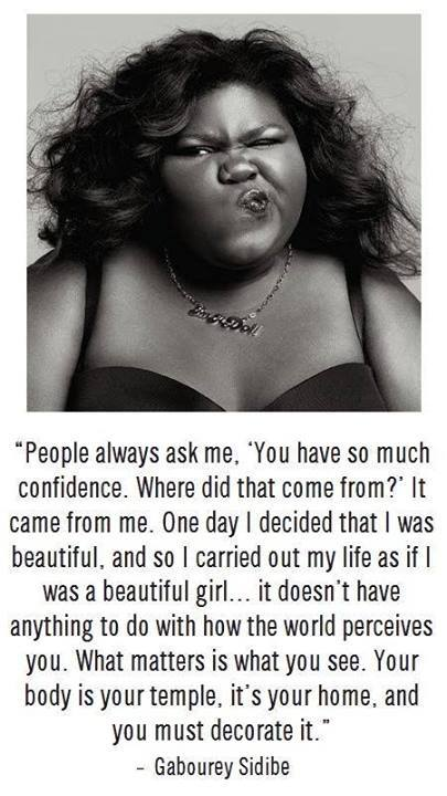 confidence beauty gabourey sidibe